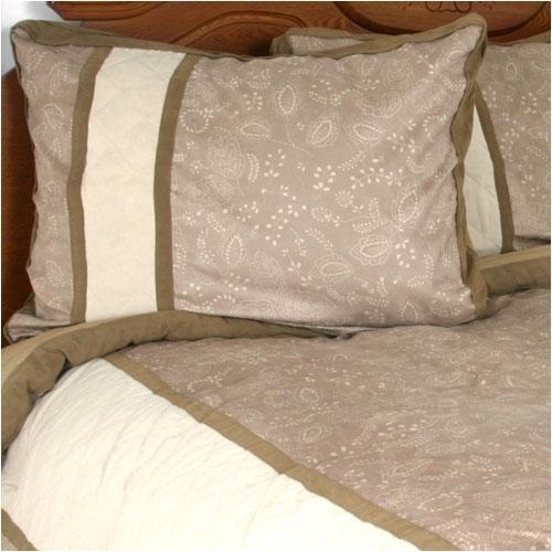 Nautica Harrison Queen Comforter Set 7 PC Brown Beige Microsuede  59% OFF!
