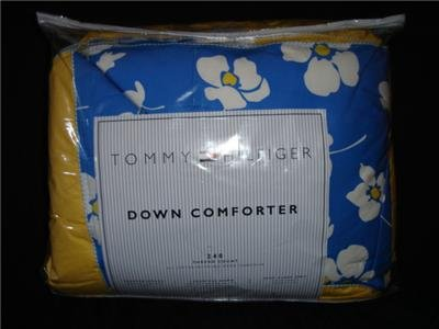 Tommy Hilfiger King Down Comforter Madison Floral Blue Yellow