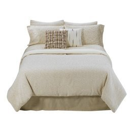 Umbra Loft Drift Queen Comforter Set 4 PC Beige Brown