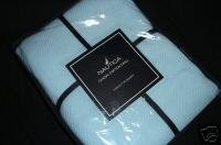Nautica Classic Twill Cotton TWIN Blanket Light Blue