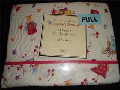 NEW Laura Ashley Fun Fairies Full Flat Sheet
