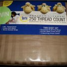 Serta Perfect Sleeper Brown Twin Sheet Set Damask Stripe Deep Fitted 18""