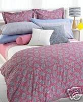 Ralph Lauren Studio Azalea Paisley King Duvet Cover Set 4 PC Hot Pink