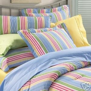 Ralph Lauren Studion Awning Stripe Twin Duvet Cover Comforter Cover Pink Stripe