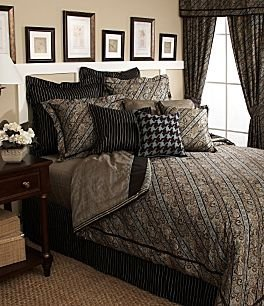 Tommy Hilfiger York Queen Sheet Set Brown Plaid Blue 400 Thread Count $5 Shipping