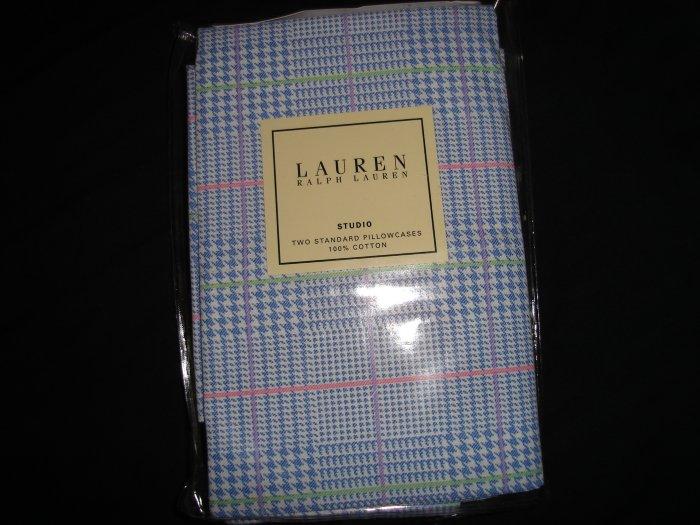 Ralph Lauren Blue Glen Plaid Standard Pillowcases