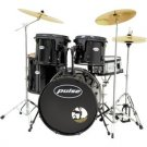 Pulse Pro 5-Piece Drum Set with Cymbals and Black Hardware
