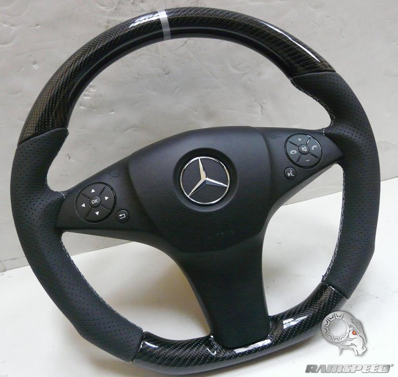 Mercedes-Benz-GT3-stripe-perforated-leather Blue Stitching