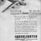 1941 Consolidated Aircraft R.A.F. Over U.S.A. Ad
