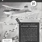 1941 Stinson Voyager Luxurious 90 hp Plane Ad