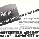 1941 Porterfield Custom 75 Plane Ad OK For Immediate Delivery
