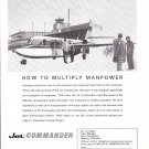 1963 Aero Jet Commander Plane At Airport Ad Multiply Manpower