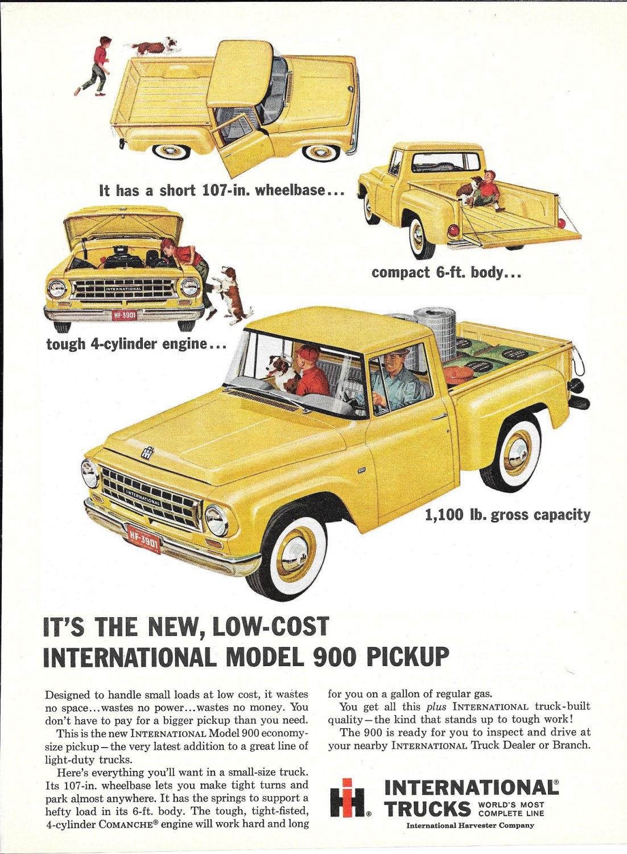 1963 International Model 900 Pickup Truck Ad New Low Cost