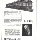 1944 Boston & Maine Railroad Diesels & Damsels Ad