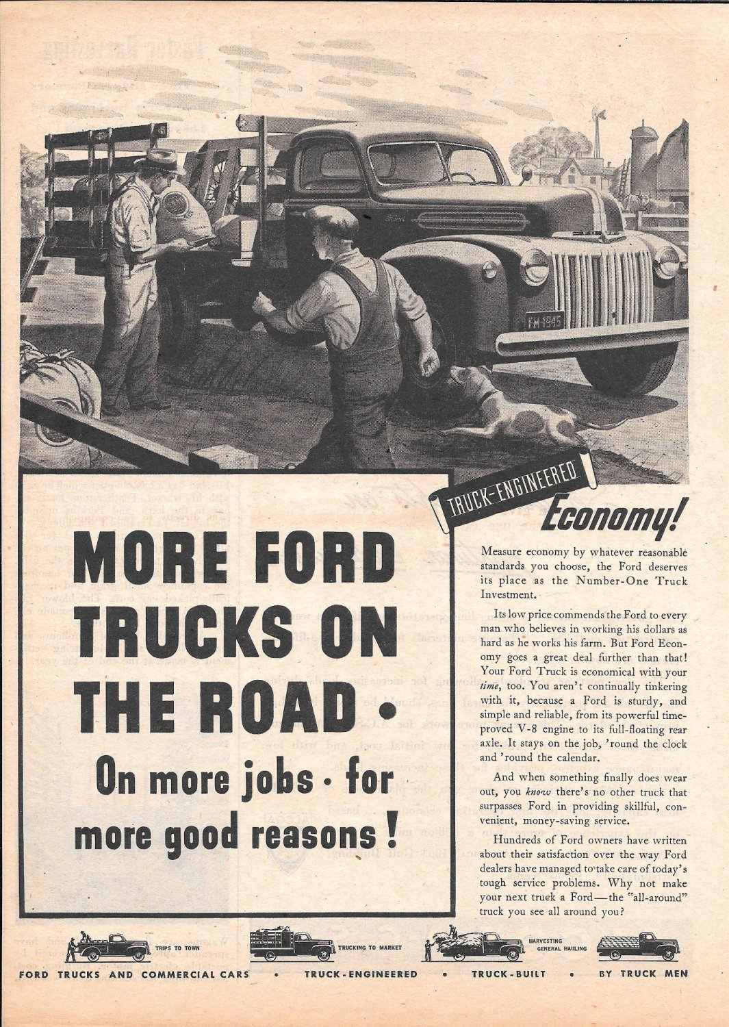 1945 Ford Trucks More On The Road Ad Loading Feed