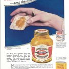 1926 French's Mustard Taste The Difference On A Cracker Ad