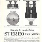 1898 Bausch & Lomb Zeiss Stereo Field Glasses Binoculars Ad