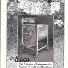 1923 Eden Washing Machine On The Line At Nine Ad