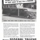 1938 Federal Trucks A Complte Owner's Service Ad