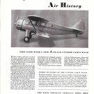 1935 Waco 4 Place Custom Cabin Plane Ad Writes Air History