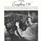 1935 Boeing Airplanes Pilot In Cockpit Ad Everything OK
