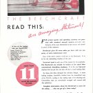 1935 Beechcraft Plane Read This Amazing Statement Ad