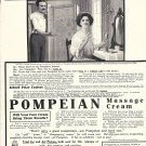 Old Pompeian Massage Cream Pretty Girl At Vanity Ad