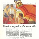 1927 Camel Cigarettes Men & Pretty Girl At Beach Ad