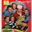 1951 Bob Crosby &Family Whitman's Sampler Chocolates Candy Ad