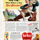 1941 Red Heart 3 Flavor Dog Food Ad Father & Son