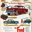 1952 Ford Car It's America's Ablest Ad