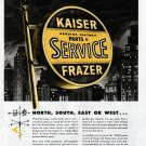 1948 Kaiser Frazer Car Genuine Factory Parts & Service Ad