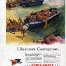 1942 Chris-Craft Landing Boats Liberators Courageous Ad