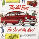 1949 Ford The Car Of The Year ! Ad