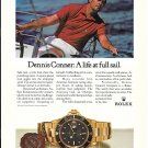 1985 Rolex Watch Dennis Connor Renowned Yachtsman Ad