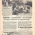 1959 New Holland Cyclon Action Spreader Ad Brings Science