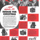 Old Kodak Cameras For Christmas 7 Models Ad