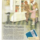 Old Frigidaire Electric Refrigerator Fred Mizen Ad