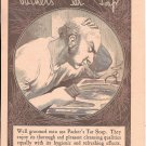 Old Packer's Tar Soap Man Shapooing In Sink Ad