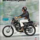 1972 Harley Davidson TX-125 Motorcycle Ad Great American Freedom