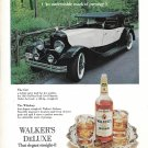 1973 Walker's DeLuxe Bourbon 1930 DuPont Dual Cowl Phaeton Car Ad
