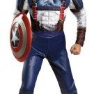 Small Boy's Captain America Costume Licensed