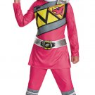 Small Girl's Pink Ranger Dino Charge Costume Licenced  Saban's Power Rangers