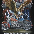 NWT American Bald Eagle Motorcycle Men Shirt size L chopper