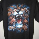 NWT Angry Lion Men T-Shirt XL tiger tattoo gothic biker