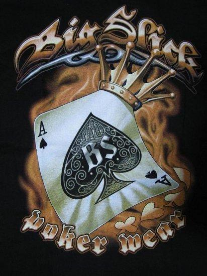 NWT Ave Spade Poker Big Slick Men T-Shirt size L biker chopper
