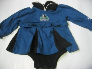 New NBA Minnesota Timberwolves Infant Onesie Baby Girl size 6/9M FREE SHIPPING!