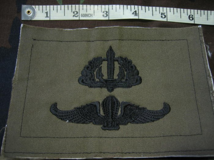 Indonesia Marine Commando & Jump /Parachute Wing Patch FREE SHIPPING!