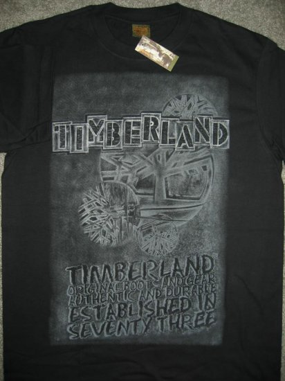 New Timberland Men T-Shirt Black Size Medium M Timbs FREE SHIPPING!