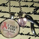 I Wear Pink For My Bestie Breast Cancer Necklace